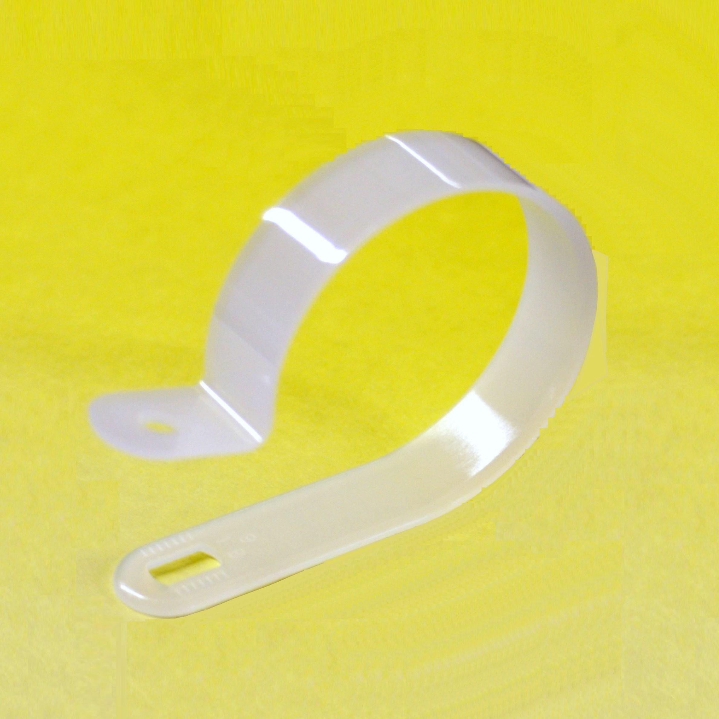 kunststoff wei nylon p clips f r aufh ngung kabel dr hte verschiedene gr en ebay. Black Bedroom Furniture Sets. Home Design Ideas