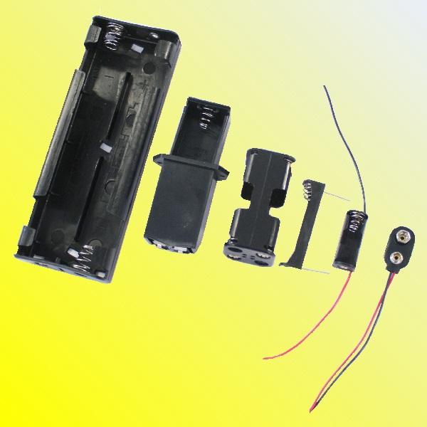 Aaa aa c d 9v n compartiment pour piles clipser connecteur joint ouvert - Connecteur pile 9v ...