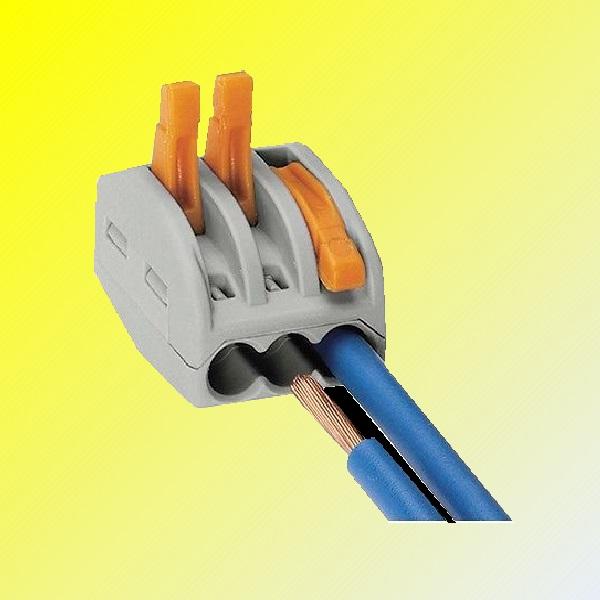 wago federhebel wiederverwendbar kabelverbinder 2 3 5 adrig anschluss ebay. Black Bedroom Furniture Sets. Home Design Ideas